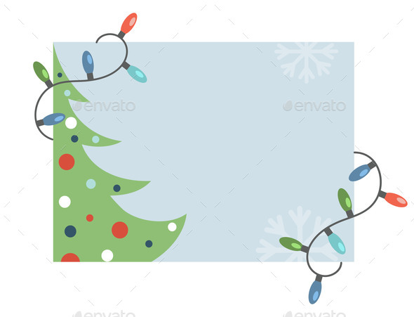 Happy New Year and Merry Christmas Invitation Card