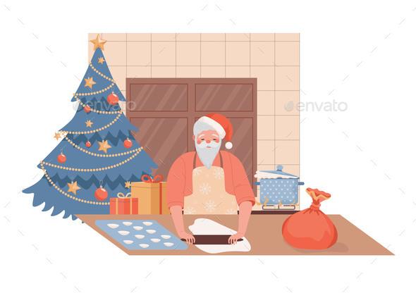 Santa Claus Character Cooking