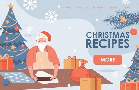 Christmas Recipes Landing Page Design