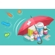 3D Isometric Vector Conceptual Illustration of Protection - GraphicRiver Item for Sale
