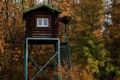 Close up of hunting tower in autumn forest - PhotoDune Item for Sale