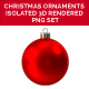 Christmas Ornaments Isolated 3D Rendered PNG Collection Multi color - GraphicRiver Item for Sale