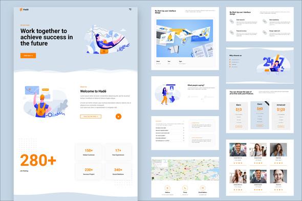 Hadé - Business Elementor Template Kit