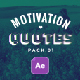 20 Qoutes Titles Instagram Pack 1 - VideoHive Item for Sale