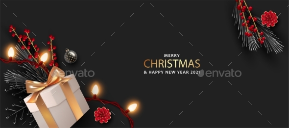 Merry Christmas and Happy New Year Realistic