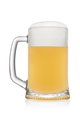 Stein with light wheat beer isolated on a white. - PhotoDune Item for Sale