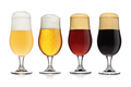 Set of different various of beers isolated on white. - PhotoDune Item for Sale