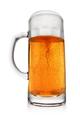 Mug of light yellow beer isolated on white. Wide angle shot. - PhotoDune Item for Sale
