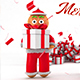 Christmas Greeting With Gingerbread Titles - VideoHive Item for Sale
