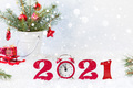 Happy New Year 2021. Holiday card, Christmas carnival invitation. - PhotoDune Item for Sale
