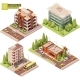 Vector Isometric Buildings and Street Elements - GraphicRiver Item for Sale