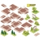 Vector Isometric Street Roads and Other Elements - GraphicRiver Item for Sale