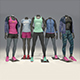 Female mannequin Nike pack 1 3D model - 3DOcean Item for Sale