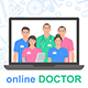 Online consultation doctor - GraphicRiver Item for Sale