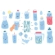 Drink More Water. Cute Drinking Eco Bottles - GraphicRiver Item for Sale