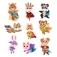 Hero Animals Characters. Cute Children Animals - GraphicRiver Item for Sale