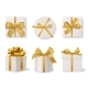Realistic Decorative Gift Boxes. 3d Gifts White - GraphicRiver Item for Sale