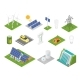 Isometric Green Technologies. Innovative Eco - GraphicRiver Item for Sale
