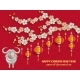 Card for Chinese New Year Golden Sakura - GraphicRiver Item for Sale