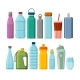 Set of Different Sport and Plastic Water Bottles - GraphicRiver Item for Sale