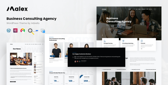 Malex - Business Consulting Agency WordPress Theme