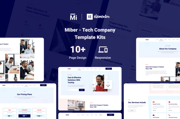 Miber - Tech Company Elementor Template Kit