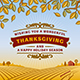 Retro Thanksgiving Greeting Card - GraphicRiver Item for Sale