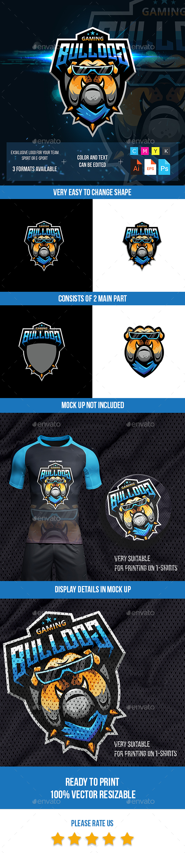 Bulldog Esport Logo For gaming