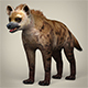 Low Poly Realistic Hyena - 3DOcean Item for Sale