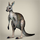 Low Poly Kangaroo - 3DOcean Item for Sale