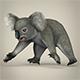 Low Poly Koala - 3DOcean Item for Sale