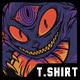 Devil Eyes Halloween T-Shirt Design - GraphicRiver Item for Sale