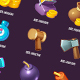24 Basic Game Icons for Casual Game - GraphicRiver Item for Sale
