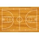 Basketball Fireld with Markings and Wood Texture - GraphicRiver Item for Sale