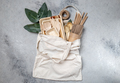 Eco craft paper and wooden tableware - PhotoDune Item for Sale