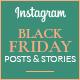 Black Friday Instagram Posts & Stories - GraphicRiver Item for Sale