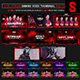 The Gamers Live Stream Gaming Video Thumbnail / Overlay Photoshop Templates - GraphicRiver Item for Sale