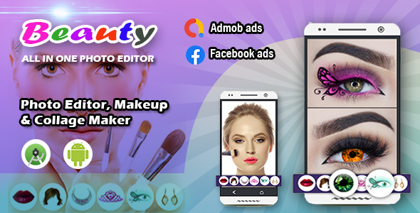 Beauty photo editor, Makeup & Collage maker