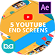 YouTube End Screens Vol.3 | After Effects - VideoHive Item for Sale