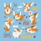 Welsh Corgi Various Characters Doing Various - GraphicRiver Item for Sale