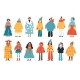 Big Set of Female Characters in Different Clothes - GraphicRiver Item for Sale