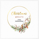 Christmas Wreath Gold Clipart PNG, Watercolor Winter - GraphicRiver Item for Sale