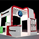 Exhibition Booth 3D Model - 6x5 M - 3DOcean Item for Sale