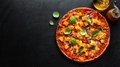 Pizza with pumpkin chunks with vegetables - PhotoDune Item for Sale