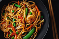 Asian noodles with shrimps and vegetables - PhotoDune Item for Sale