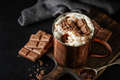 Hot chocolate with whipped cream in cup - PhotoDune Item for Sale