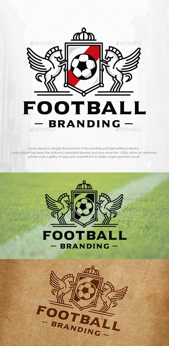 Football Winged Horses Logo Template