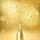 Champagne Bottle on a Gold Background - GraphicRiver Item for Sale
