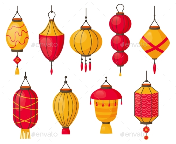 Chinese Traditional Red Paper Lanterns