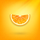 Orange Slice on an Orange Background - GraphicRiver Item for Sale